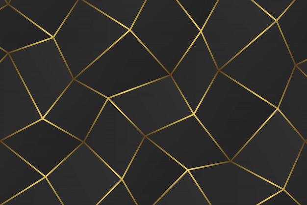 Gouden geometrische abstracte achtergrond.