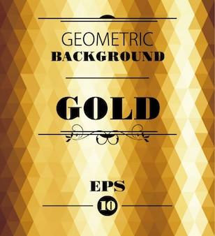 Gouden geometrische achtergrond
