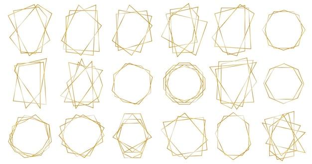 Gouden geometrische frames.