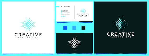 Gouden geometrische kunst vorm logo-ontwerp.