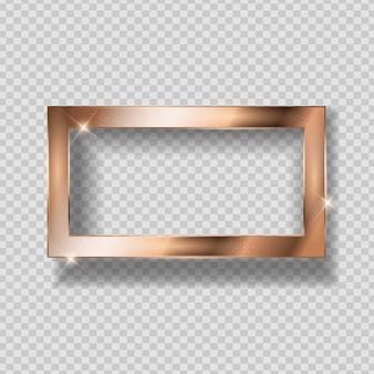 Gouden glanzend frame