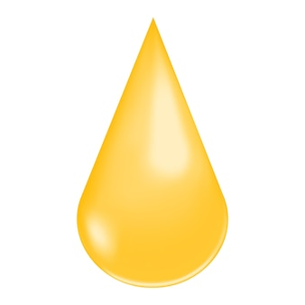 Gouden glanzende druppel collageendruppel vitamine a of e keratine jojoba cosmetische olie omega-vetzuur