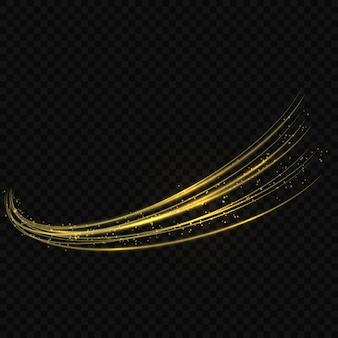 Gouden glanzende golf