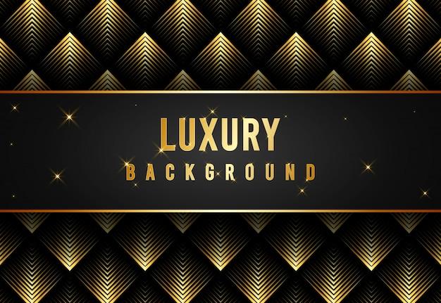 Gouden glanzende patroon luxe achtergrond