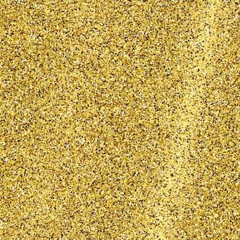 Gouden glinsterende achtergrond met gouden glitters en glittereffect. lege ruimte voor uw tekst. vector illustratie