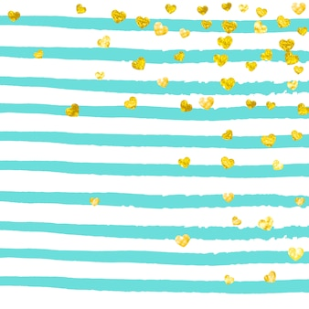 Gouden glitter confetti met stippen achtergrond