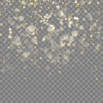 Gouden glitter kerst abstract effect voor luxe wenskaart.