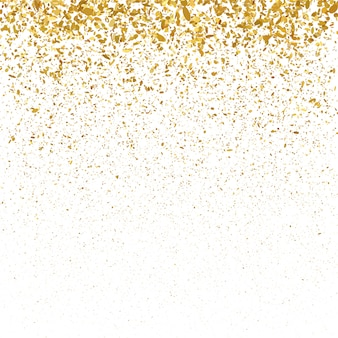 Gouden glitter kerstmis confetti achtergrond