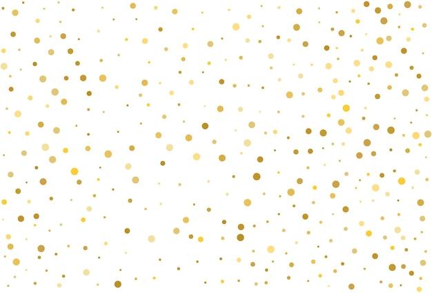 Gouden glitter klassieke cirkel confetti achtergrond
