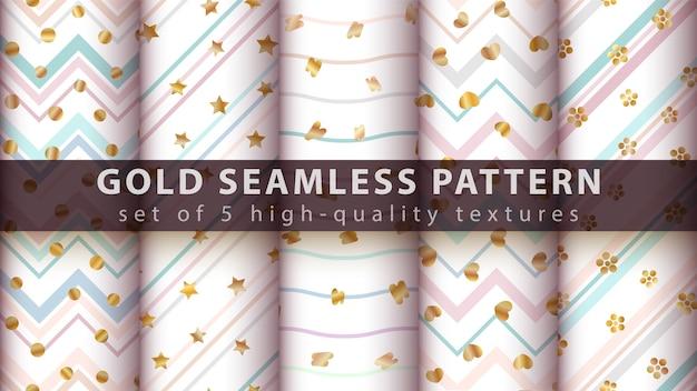 Gouden glitter naadloos patroon