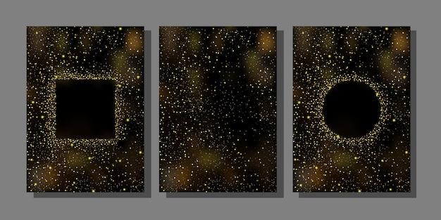 Gouden glitter-omslagsjablonen voor wenskaarten