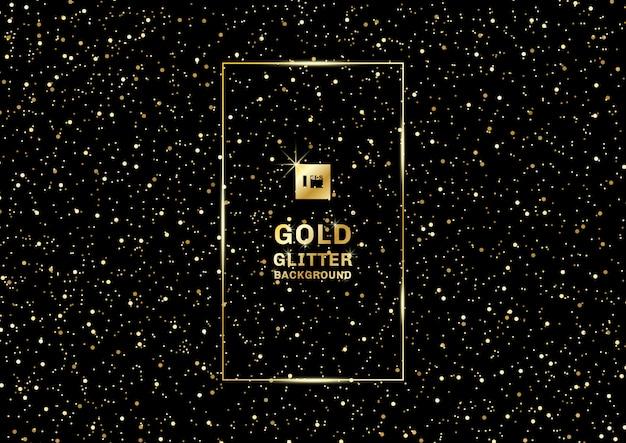 Gouden glitter op zwart