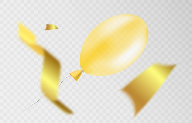 Gouden glitter realistische confetti vliegt op een witte achtergrond feestelijke illustratie
