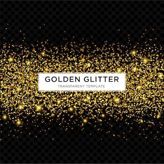 Gouden glitter starlight achtergrond sjabloon