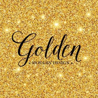 Gouden glitter textuur voor achtergrond