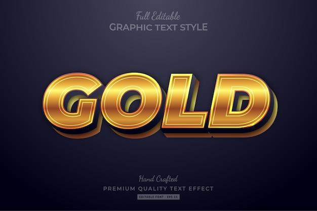 Gouden gloed bewerkbaar teksteffect