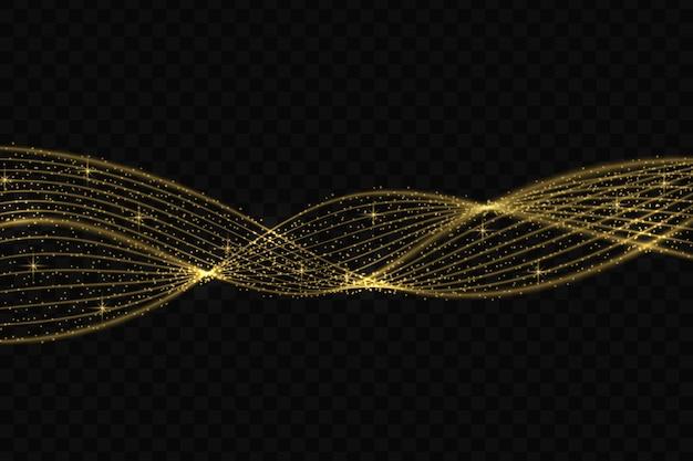 Gouden gloed lichteffect sterren barst met sparkles geïsoleerd