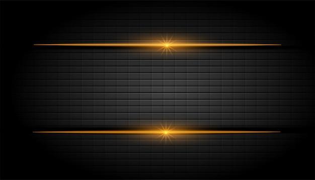Gouden gloeiende frame