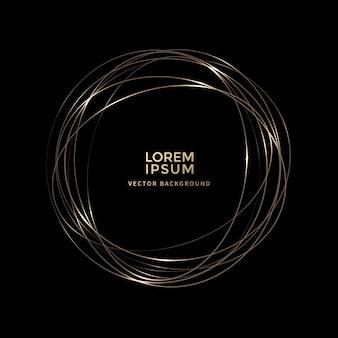 Gouden gloeiende spiraal licht lijn vector