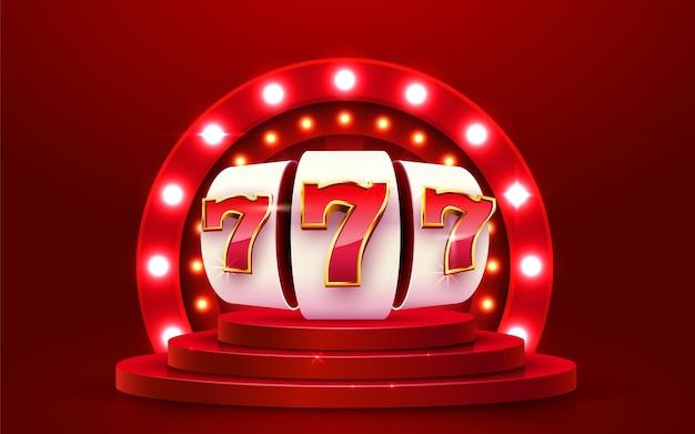 Gouden gokautomaat wint de jackpot big win concept casino jackpot