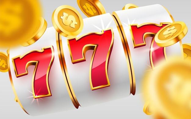 Gouden gokautomaat wint de jackpot grote winst, casino jackpot