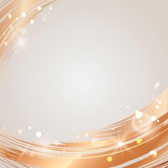 Gouden golf abstracte vector als achtergrond