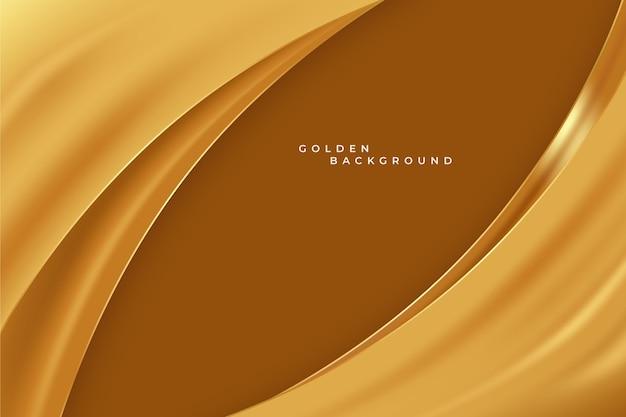 Gouden golfbehang