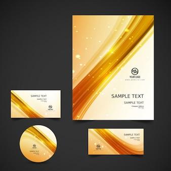 Gouden golvende zakelijke briefpapier