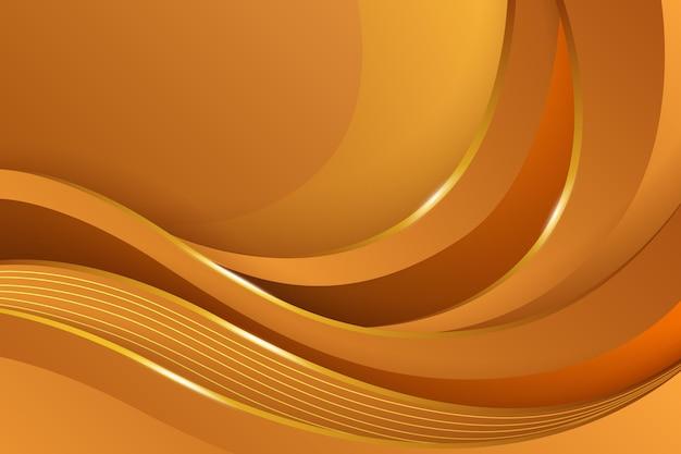 Gouden gradiënt vloeiende achtergrond