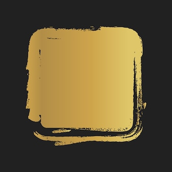 Gouden grunge vintage geschilderde vierkante vormen. vector illustratie.