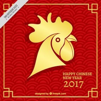 Gouden haan voor chinees nieuwjaar