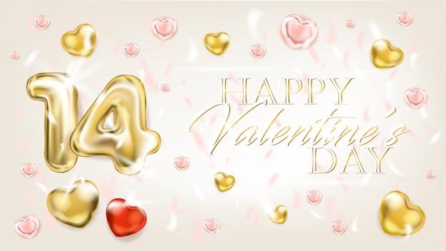 Gouden harten voor valentijnsdag