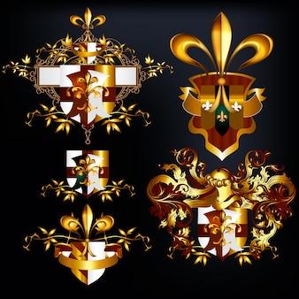 Gouden heraldische elementen