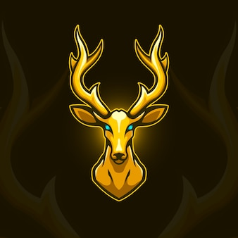 Gouden herten logo