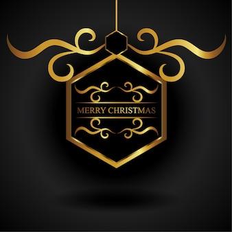 Gouden hexa christmas ornament