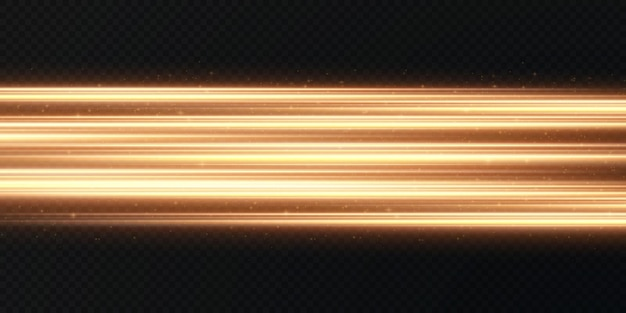 Gouden horizontale lens flares pack