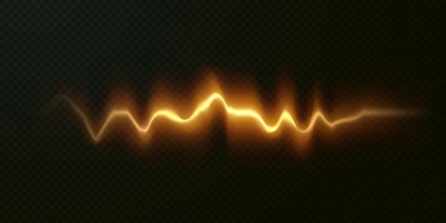 Gouden horizontale lensfakkels pakken laserstralen horizontale lichtstralen in.