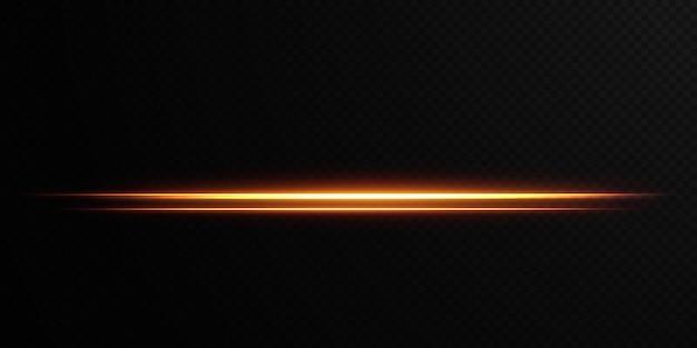 Gouden horizontale lensflares pack laserstralen horizontale lichtstralen mooie lichte fakkels