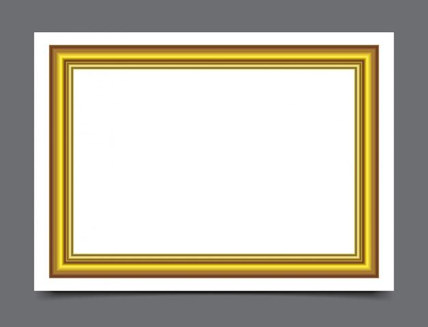 Gouden houten frame voor fotografie grens