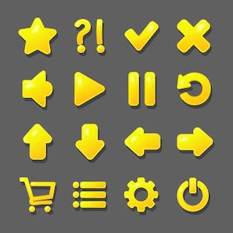 Gouden iconen ontwerp.