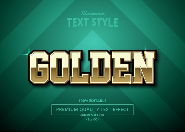 Gouden illustrator-teksteffect
