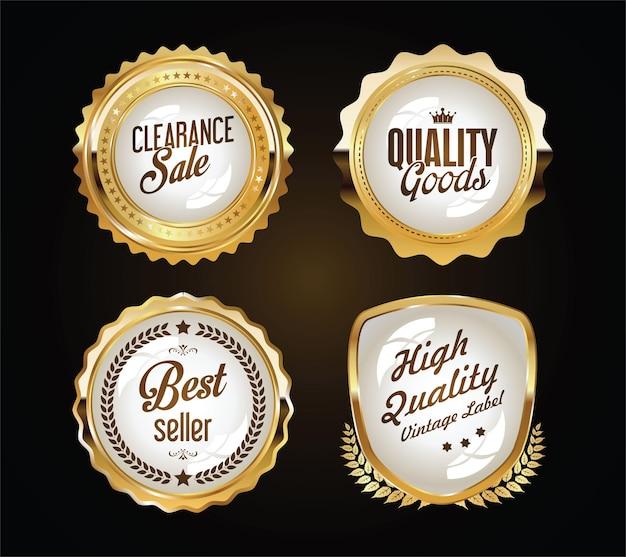 Gouden insignes en labels