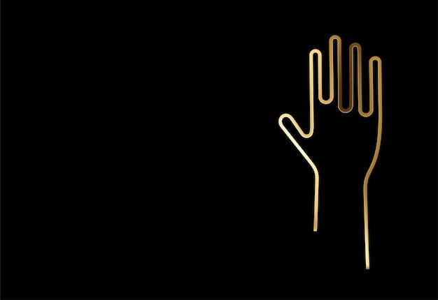 Gouden internationale jeugddag, 12 augustus, deeltje vectorillustratie.