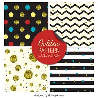 Gouden inzameling van het patroon