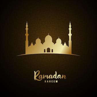 Gouden islamitische moskee