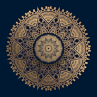 Gouden islamitische patroon mandala