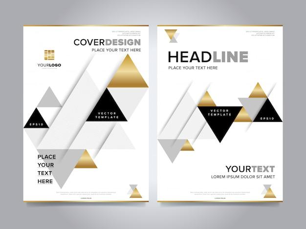 Gouden jaarverslag brochure dekking