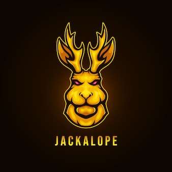 Gouden jackalope logo