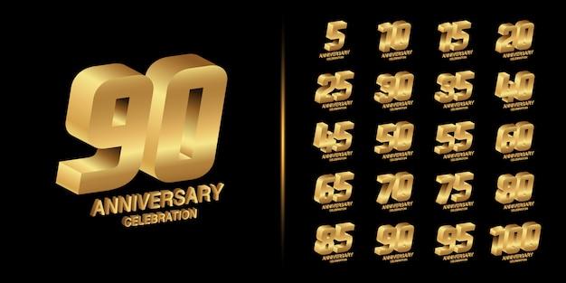 Gouden jubileum embleem ontwerp.
