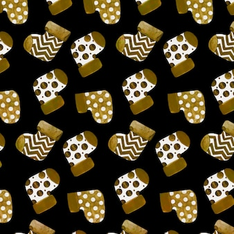 Gouden kerst patroon achtergrond